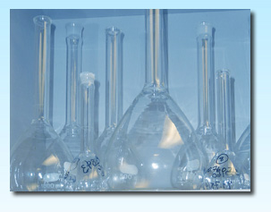 water analysis beakers on lab shelf - services provided list page